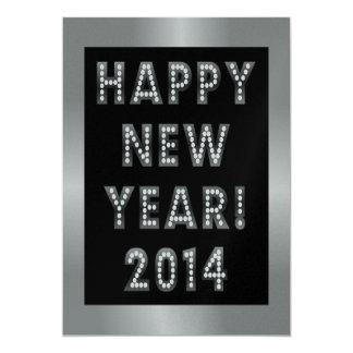 Silver & Black Happy New Year 2014 Invitations