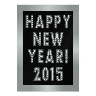 Silver & Black Happy New Year 2015 Invitations