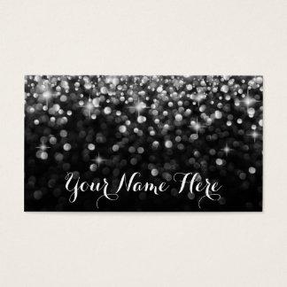 Silver Black Hollywood Glitz Glam Place Card