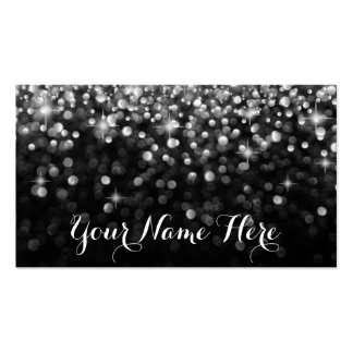 Silver Black Hollywood Glitz Glam Place Card Pack Of Standard Business Cards