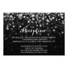 Silver Black Hollywood Glitz Glam Reception Card