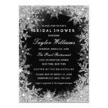 Silver & Black Jewel Snowflake Bridal Shower 13 Cm X 18 Cm Invitation Card