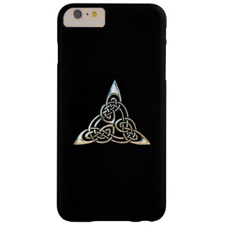 Silver Black Triangle Spirals Celtic Knot Design Barely There iPhone 6 Plus Case