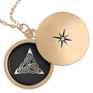 Silver Black Triangle Spirals Celtic Knot Design Jewelry