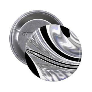 Silver Blades of Steel Against Black 6 Cm Round Badge