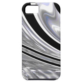 Silver Blades of Steel Against Black iPhone 5 Cover