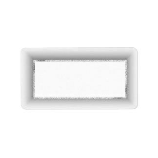 Silver Blank Address Labels