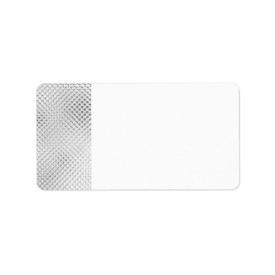 Silver Bling Blank Address Labels