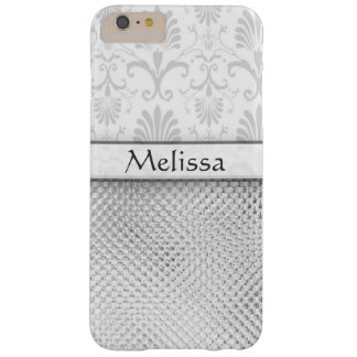 Silver Bling Effect Pattern Personalized Barely There iPhone 6 Plus Case