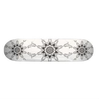 Silver Blossom Skateboard Deck