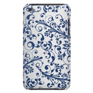 Silver Blue Abstract iPod Touch Case-Mate Case
