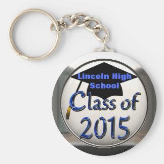 Silver & Blue Class Of 2015 Graduation Keychain