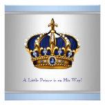 Silver Blue Crown Prince Baby Boy Shower