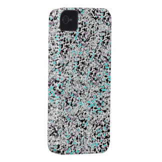 Silver blue glitter iphone 4 barely case iPhone 4 cover
