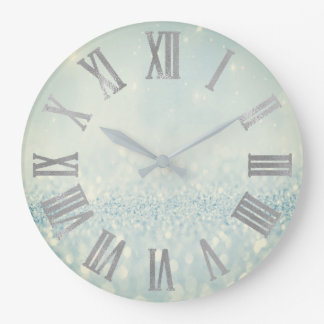 Roman Numerals Wall Clocks Zazzle Co Uk