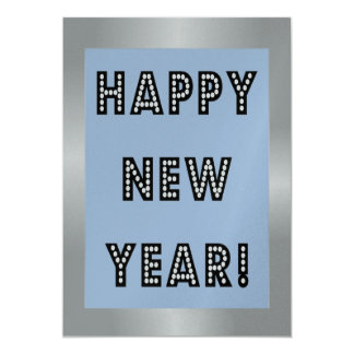 Silver & Blue Happy New Year Invitations