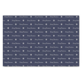 Silver & Blue Merry Christmas Tissue Paper