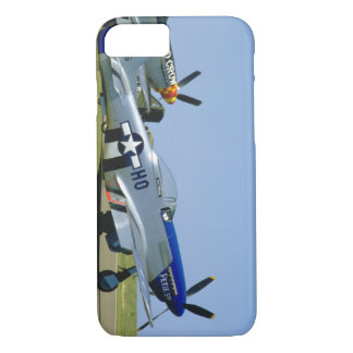 Silver & Blue, P51 Mustang, Side_WWII Planes iPhone 7 Case
