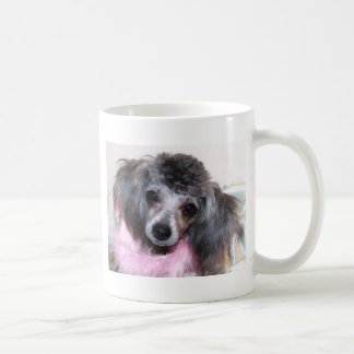 Silver Blue Poodle Puppy Face Portrait Coffee Mug