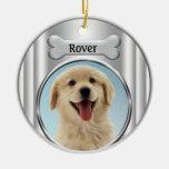 Silver Bone Dog Photo Frame Ornament