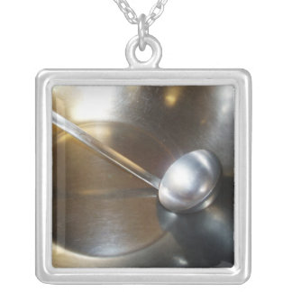 Silver Bowl With Soup Ladle Custom Jewelry