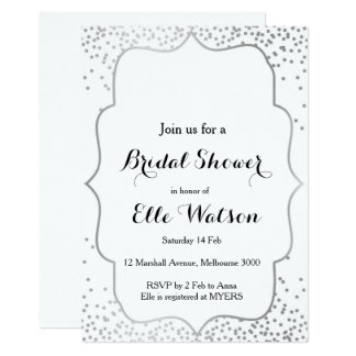 Silver Bridal Shower Invitation