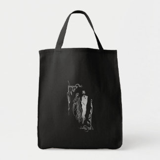 Silver Bride and Groom Art Tote Bag
