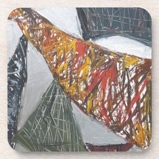 Silver Bridge Building ( abstract architecture) Beverage Coasters