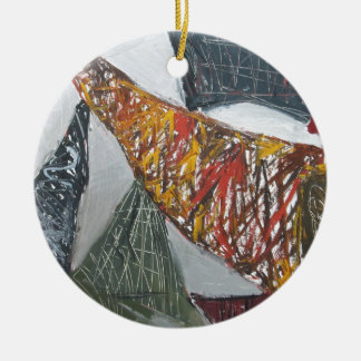 Silver Bridge Building ( abstract architecture) Christmas Ornament