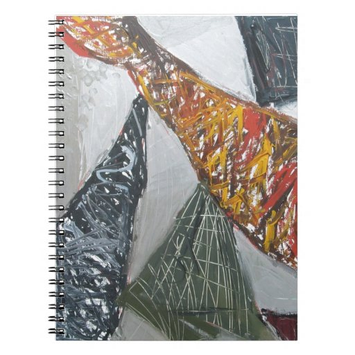 Silver Bridge Building ( abstract architecture) Spiral Notebook