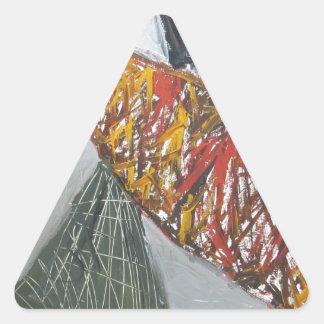 Silver Bridge Building abstract architecture Triangle Sticker