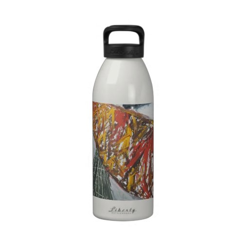 Silver Bridge Building ( abstract architecture) Drinking Bottle
