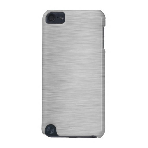 SILVER BRUSHED STEEL PRINTED iPod TOUCH 5G CASES