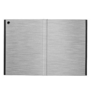 SILVER BRUSHED STEEL PRINTED iPad AIR CASE