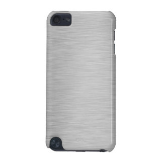 SILVER BRUSHED STEEL PRINTED iPod TOUCH (5TH GENERATION) COVER