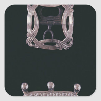 Silver buckles, English, late 18th century Sticker