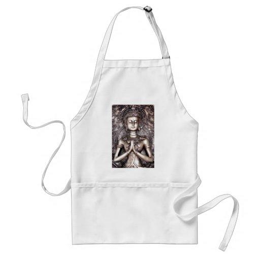 Silver Buddha Apron