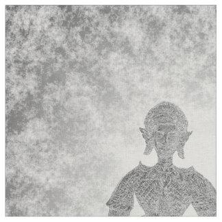 silver buddha fabric