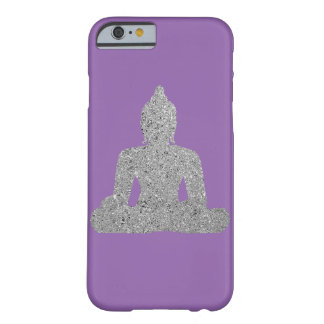 Silver Buddha on purple background Barely There iPhone 6 Case