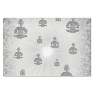 silver buddha tissue paper