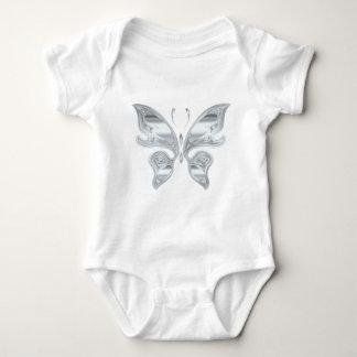 Silver butterfly baby bodysuit