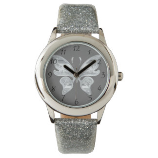 Silver butterfly watches