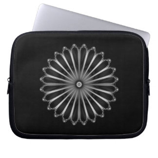 Silver Button Laptop Sleeve