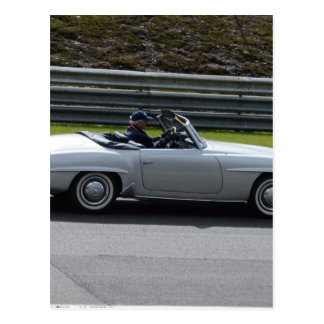 Silver Cabriolet Sportscar Postcard