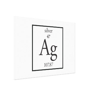 Silver Gallery Wrapped Canvas