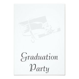 Silver Cap & Diploma Personalized Invitations