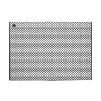 Silver Carbon Fiber Print Case For iPad Mini