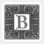 "Silver Celtic ""B"" Monogram"