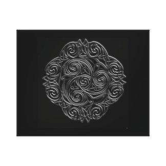 Silver Celtic Gallery Wrap Canvas