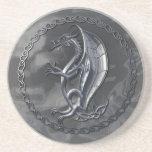Silver Celtic Dragon